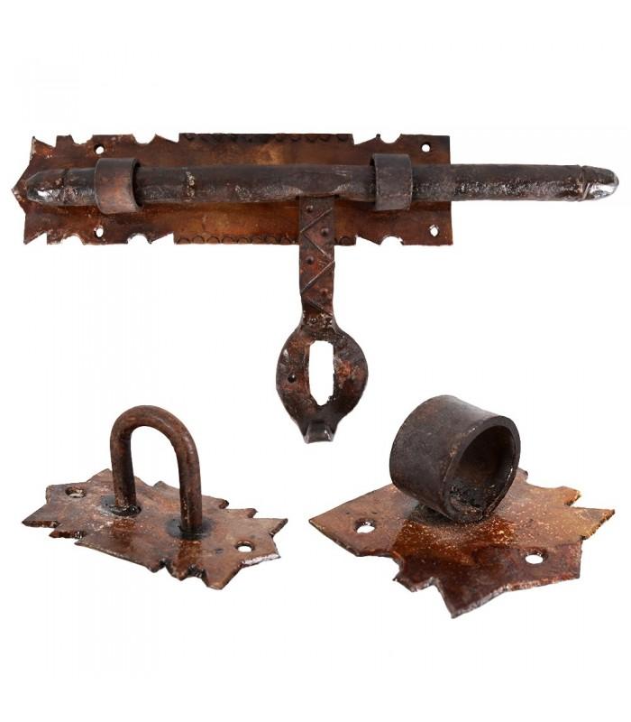 Latch wrought iron craftsman - large - 31 x 17 cm