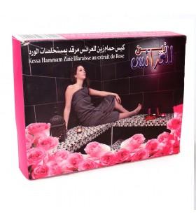 Limpeza luva Kessel - com extrato de rosa - esfoliante - Hammam - novidade