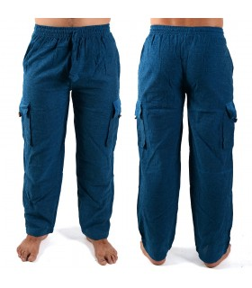 Calças de algodão bolsos - tecido cool - várias cores e tamanhos