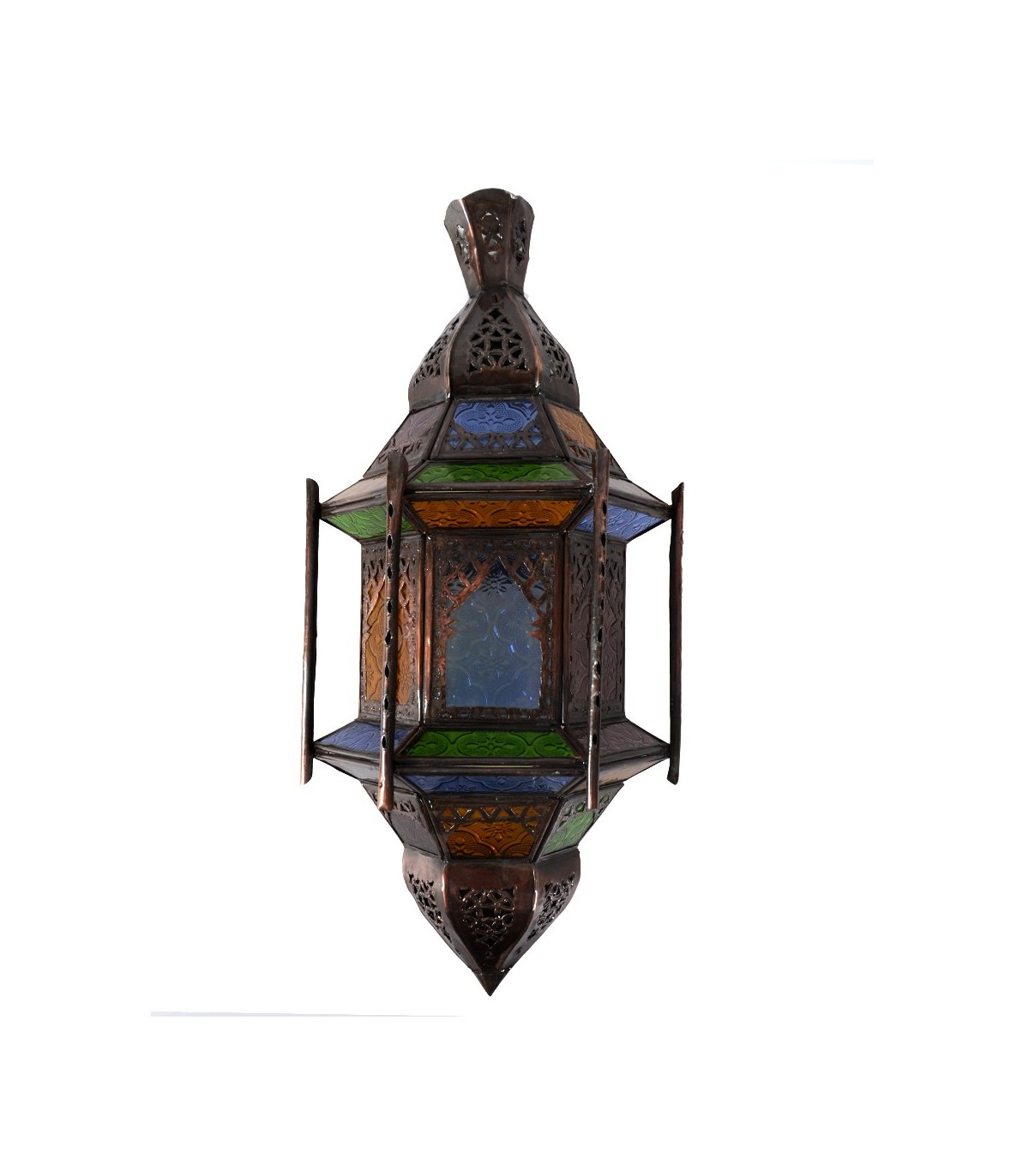 Aplique Calado de Cristal Barras Ventanas Multicolor 43 cm