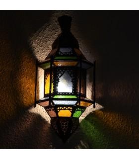 Aplique Calado de Cristal - Barras - Ventanas - Multicolor - 43 cm