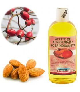 Óleo de doce amêndoa e Rosa Mosqueta 250 ml. - 1 L.