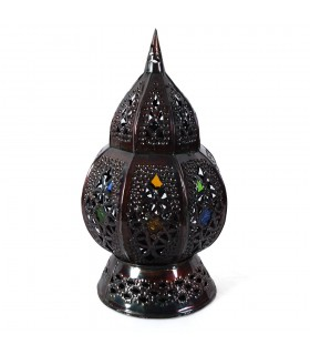 Candle holder Marrakesh - embedded crystals - 2 pieces