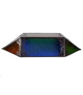 Appliquer le tirant d'eau de verre - Multicouleur - losange - 43 cm