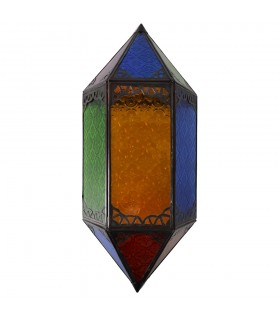 Aplicar a corrente de ar vidro - Multicolor - losango - 43 cm