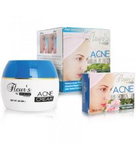 Cream + SOAP Anti Acne - HEMANI - A Base of flowers - 80g