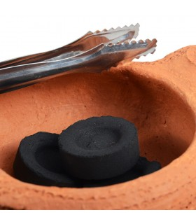 Incensario Barro Africano - Con Tapadera - Brasero - Artesano - 10 cm