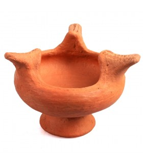 Africano argila Censer - 15 cm - Brasero - Artisan
