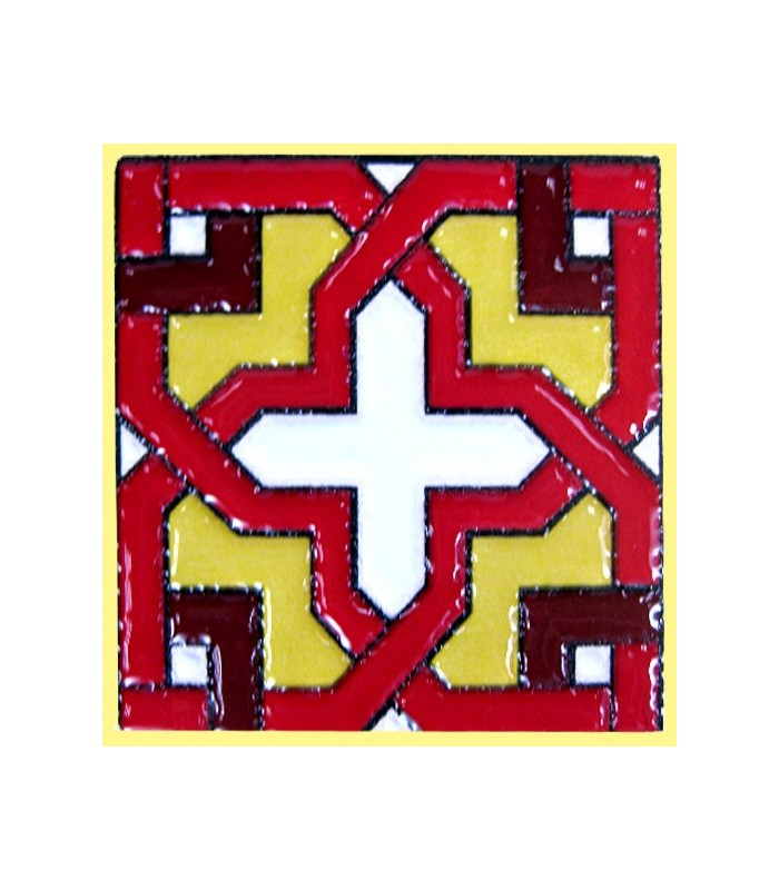 Magnet mosaic Andalusi - ceramic glazed - 6 cm
