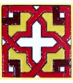 Mosaico de ímã Andalusi - cerâmica vitrificada - 6cm
