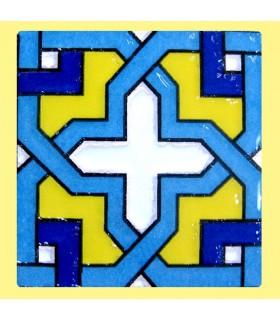Imán Mosaico Andalusí - Cerámica Esmaltada - Modelo 2 - 6 cm