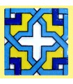 Andalusian Mosaic Magnet - Enameled Ceramic - Model 2 - 6 cm