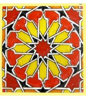 Magnet mosaic Andalusi - ceramic enamel - model 3 - 6 cm