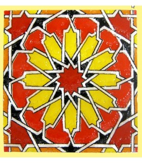 Imán Mosaico Andalusí - Cerámica Esmaltada - Modelo 3 - 6 cm
