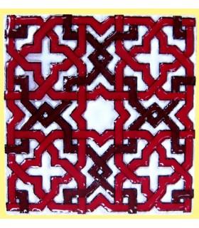 Imán Mosaico Andalusí - Cerámica Esmaltada - Modelo 5 - 6 cm