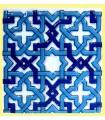 Magnet mosaic Andalusi-ceramic enamel-model 6-6 cm