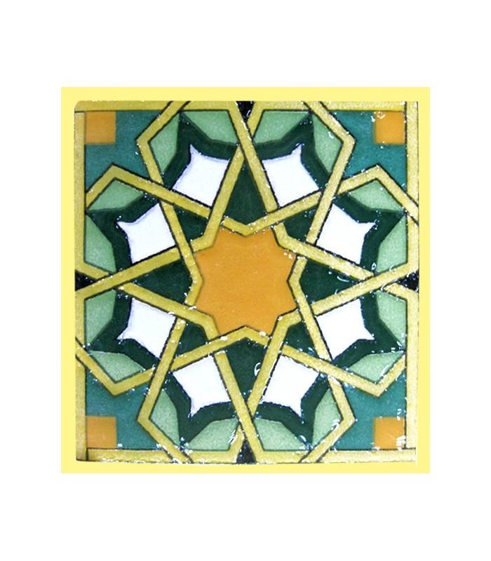 Magnet mosaic Andalusi - ceramic enamel - model 7 - 6 cm