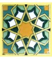 Andalusian Mosaic Magnet - Enameled Ceramic - Model 7 - 6 cm