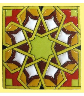 Magnet mosaic Andalusi - ceramic enamel - model 8 - 6 cm
