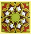 Andalusian Mosaic Magnet - Enameled Ceramic - Model 8 - 6 cm