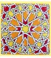 Andalusian Mosaic Magnet - Enameled Ceramic - Model 9 - 6 cm