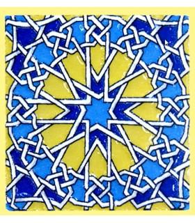 Imán Mosaico Andalusí - Cerámica Esmaltada - Modelo 10 - 6 cm