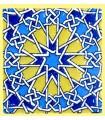 Andalusian Mosaic Magnet - Enameled Ceramic - Model 10 - 6 cm