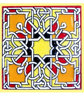 Imán Mosaico Andalusí - Cerámica Esmaltada - Modelo 11 - 6 cm