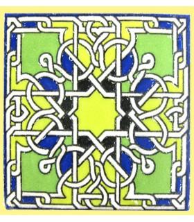 Imán Mosaico Andalusí - Cerámica Esmaltada - Modelo 12 - 6 cm