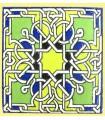 Andalusian Mosaic Magnet - Enameled Ceramic - Model 12 - 6 cm