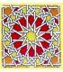 Imán Mosaico Andalusí - Cerámica Esmaltada - Modelo 13 - 6 cm