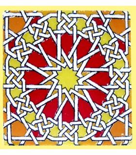 Magnet mosaic Andalusi-ceramic enamel-model 13-6 cm