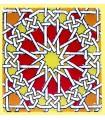 Andalusian Mosaic Magnet - Enameled Ceramic - Model 13 - 6 cm