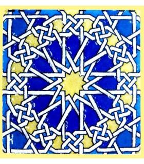 Imán Mosaico Andalusí - Cerámica Esmaltada - Modelo 14 - 6 cm