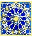 Modelo de Andalusi - esmalte cerâmico - ímã mosaico 14 - 6cm