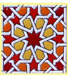 Imán Mosaico Andalusí - Cerámica Esmaltada - Modelo 15 - 6 cm
