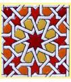 Andalusian Mosaic Magnet - Enameled Ceramic - Model 15 - 6 cm