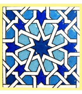Imán Mosaico Andalusí - Cerámica Esmaltada - Modelo 16 - 6 cm
