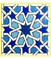 Andalusian Mosaic Magnet - Enameled Ceramic - Model 16 - 6 cm