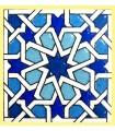 Modelo de Andalusi - esmalte cerâmico - ímã mosaico 16 - 6cm