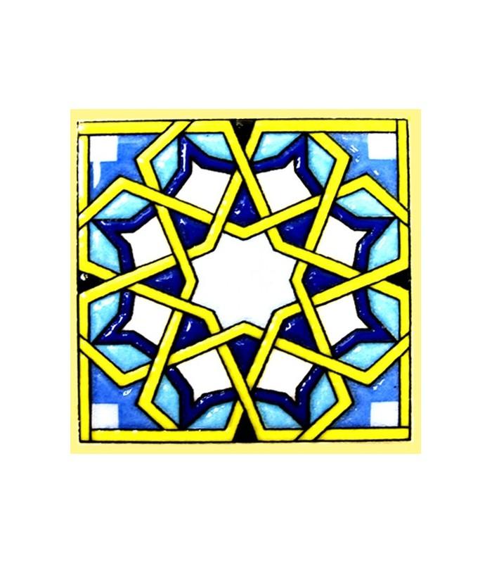 Magnet mosaic Andalusi - ceramic enamel - model 17 - 6 cm