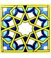 Andalusian Mosaic Magnet - Enameled Ceramic - Model 17 - 6 cm