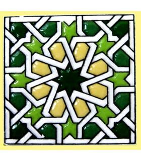 Imán Mosaico Andalusí - Cerámica Esmaltada - Modelo 17 - 6 cm