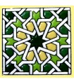 Andalusian Mosaic Magnet - Enameled Ceramic - Model 17 - 6 cm