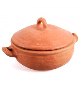 Pot of clay-cooking healthy-100% handmade-27 cm