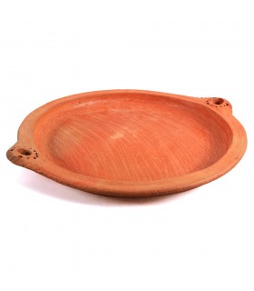 Mud - - 100% handmade - healthy cooking plate 33 cm