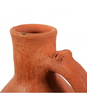 Vase with mud to water - health and wellness - 100% handmade - 27 cm