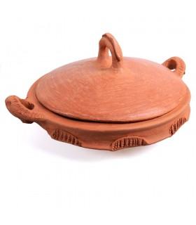 Tajín Barro - Coprire con manico - Cucina fatta in casa e sana - 27 cm