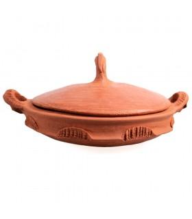 Tajín Barro - Tapadera Con Asa - Cocina Casera Y Sana - 27 cm