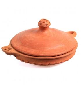 Tajín Barro - Tapadera Con Asa - Modelo 2 - Cocina Casera Y Sana - 21 cm